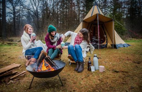winterkamperen met vrienden
